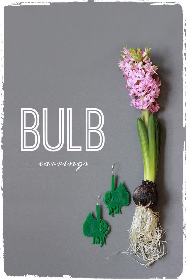 inspiration for the bulb earrings by pop-a-porter
