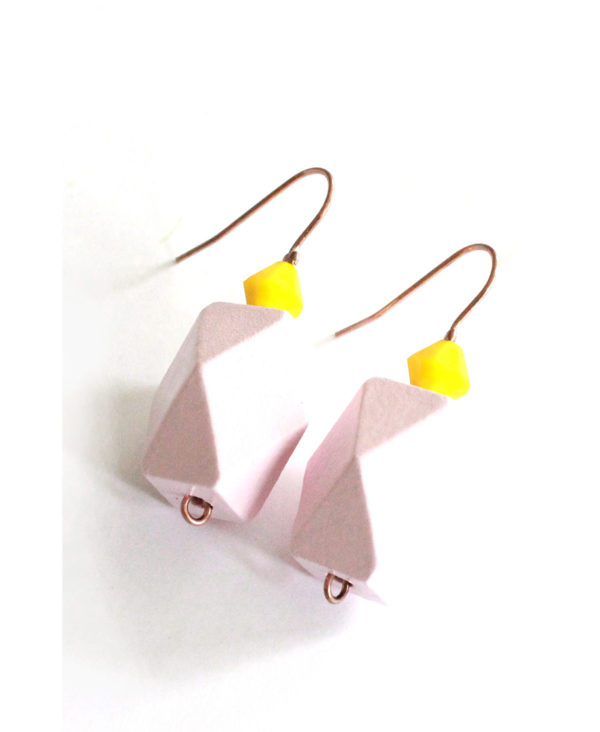 geometric colorblock earrings from pop-a-porter