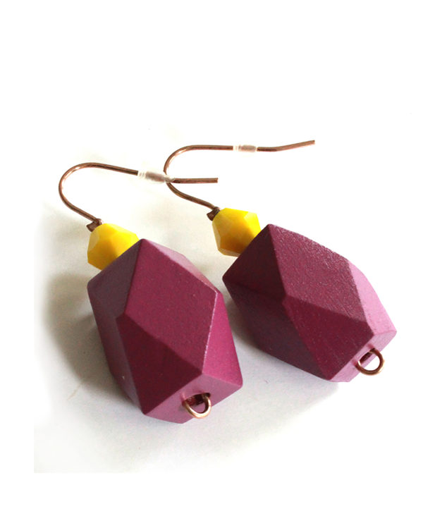 geometric colorblock earrings from pop-a-porter