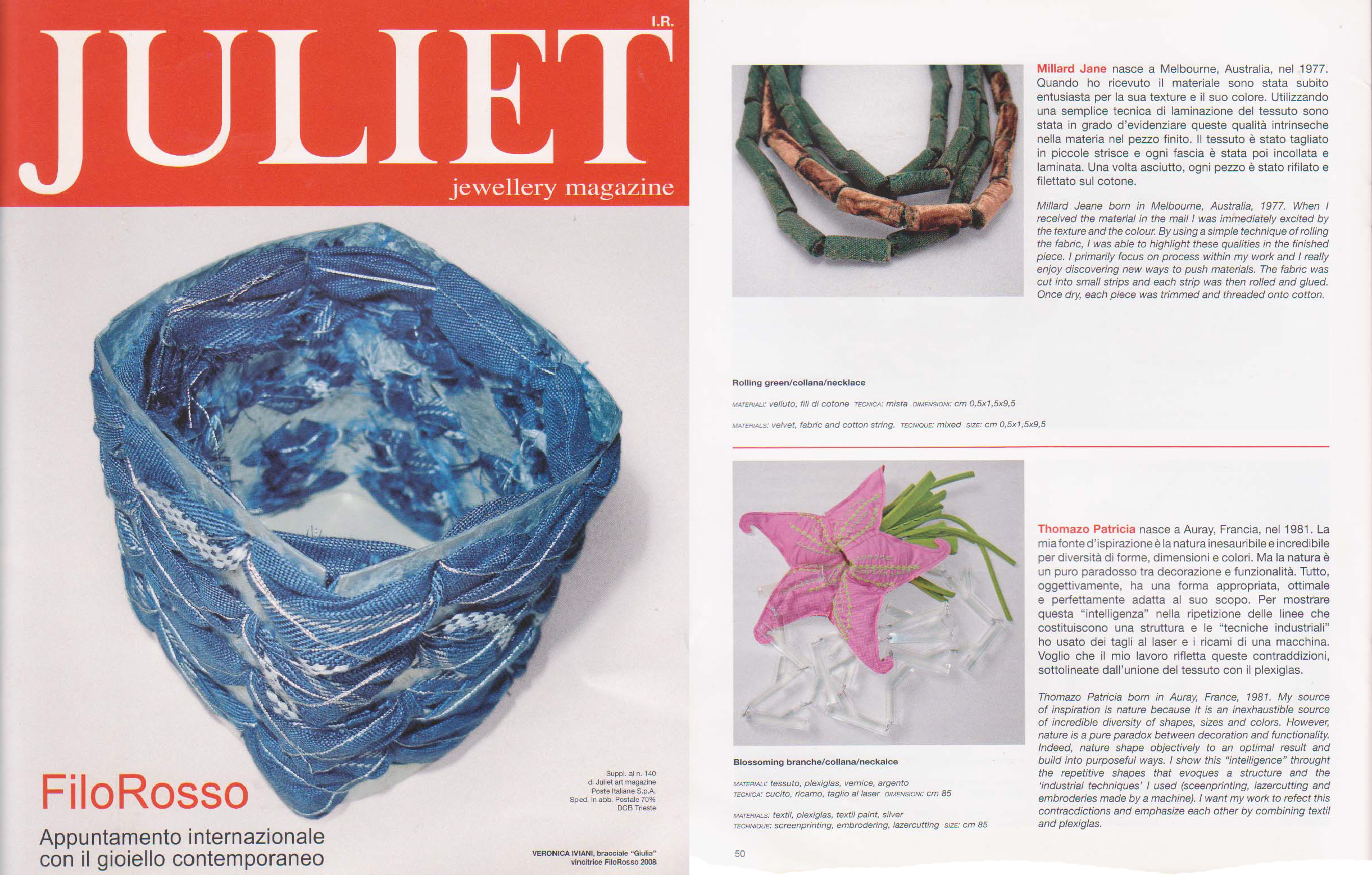 pop-a-porter's jewellery featured in the Juliet magazine