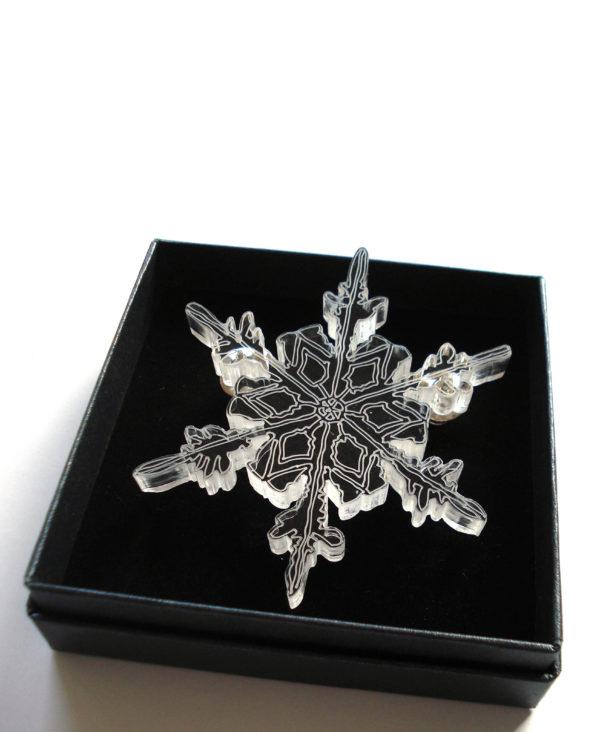 laser cutted plexiglas brooch