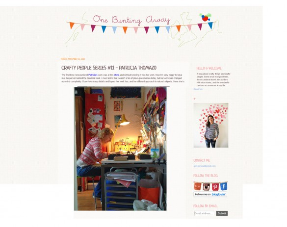 pop-a-porter's interview on the one bunting away blog