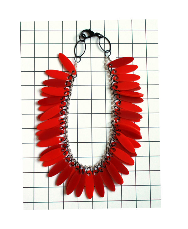 Acrylic red necklace from pop-a-porter