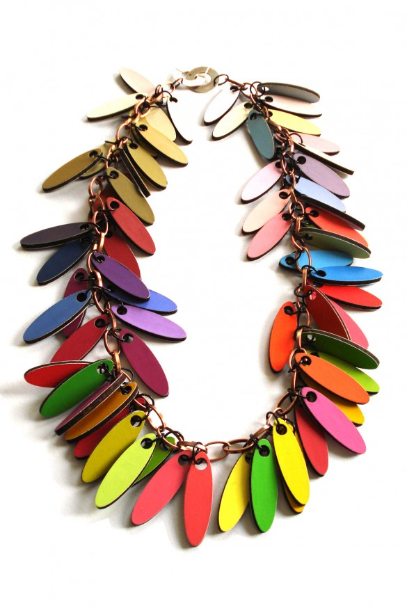 multicolored  necklace by pop-a-porter