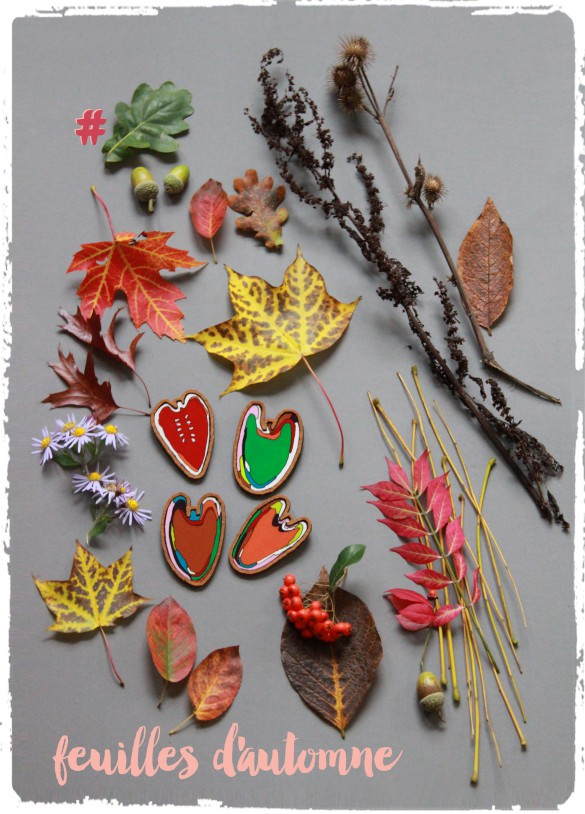 inspiration for the brooches leaves & accorn collection