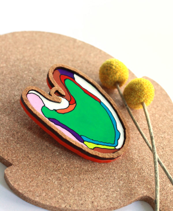 graphic illustrated brooch by pop-a-porter