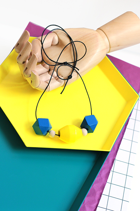 colorblock necklace by pop-a-porter