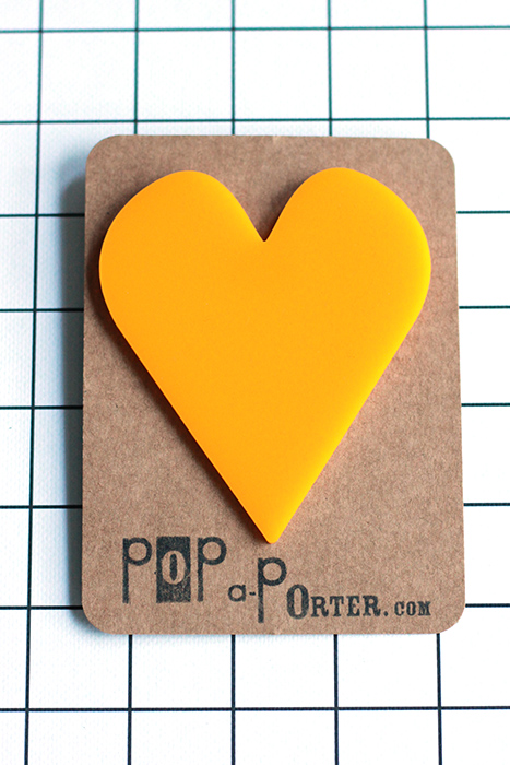 big heart brooch by pop-a-porter