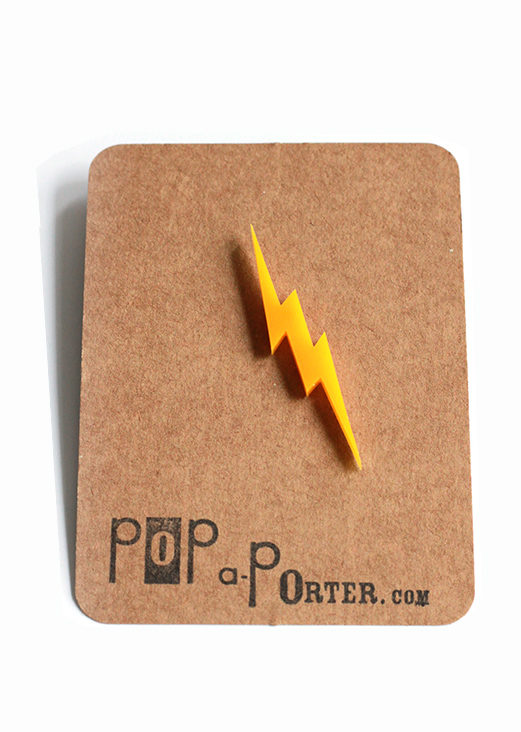 acrylic lightening brooch by pop-a-porter