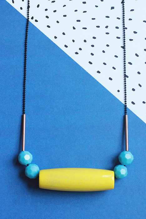 colorful necklace by pop-a-porter
