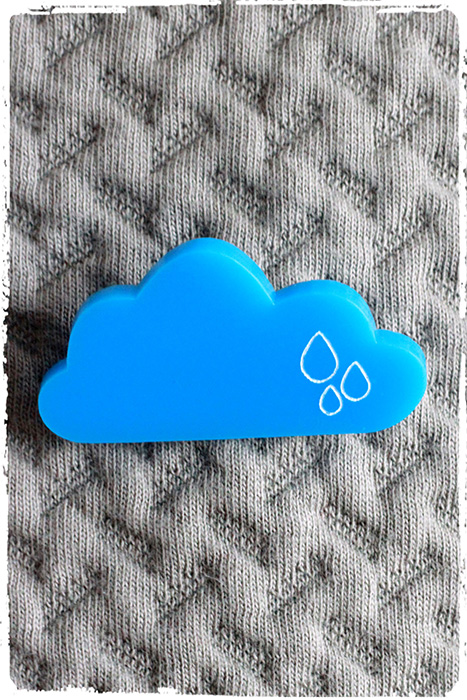 lovely cloud brooch by pop-a-porter
