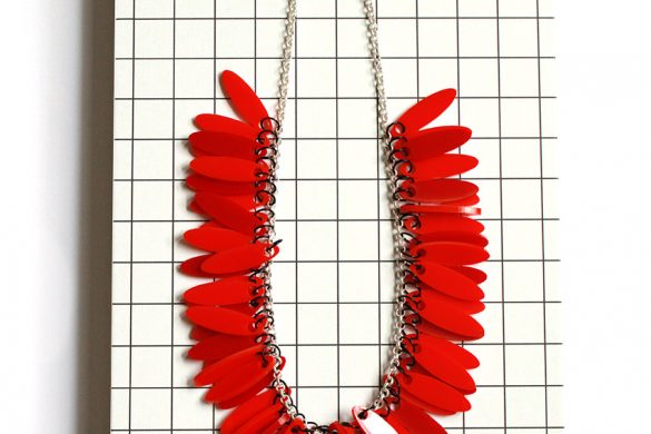new statement Plexiglas neckclace by pop-a-porter