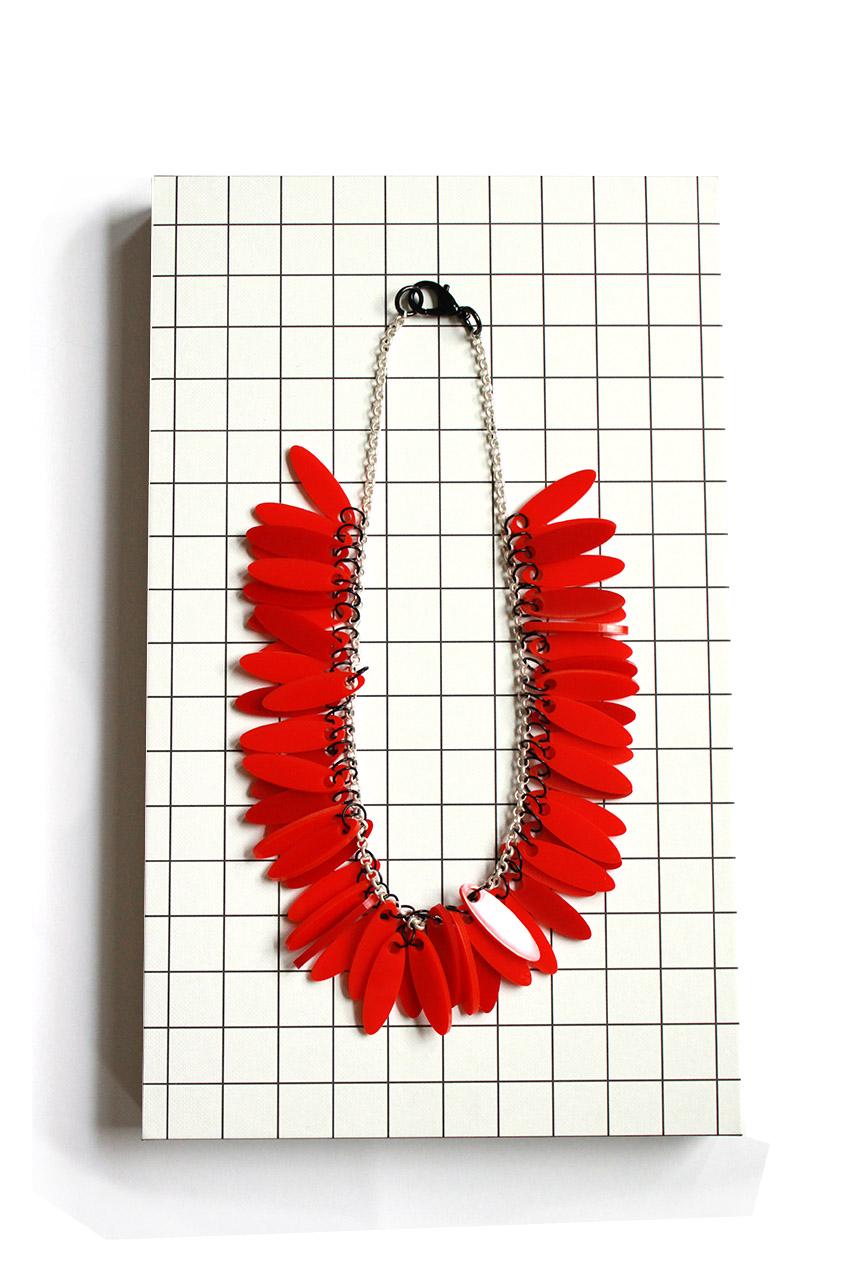 new statement Plexiglas neckclace by pop-a-porter
