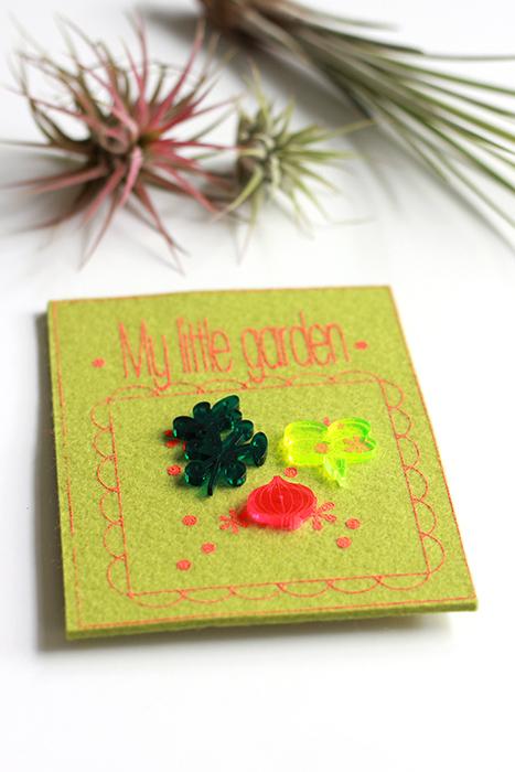 Garden label pins trio from pop-a-porter