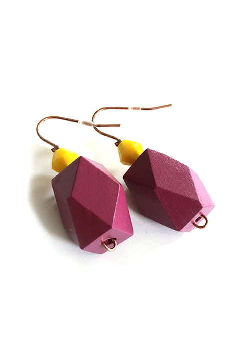 duo tones colorblock earrings by pop-a-porter