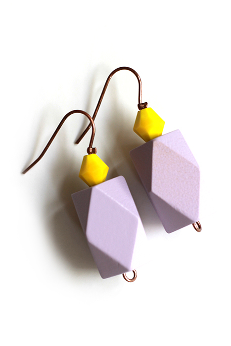 colorblock earrings by pop-a-porter