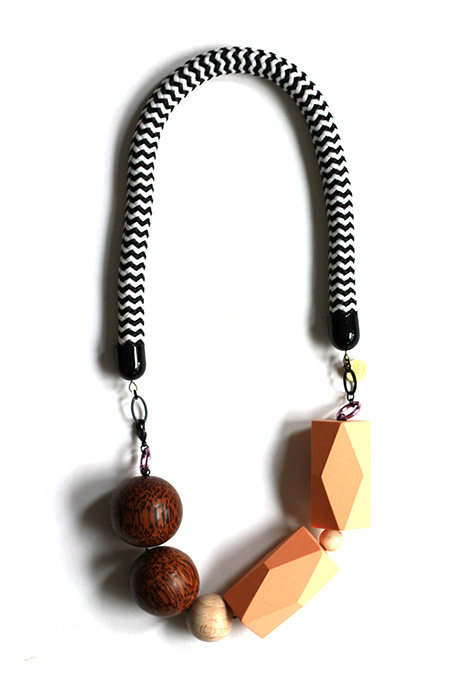 graphic, big and bold statement rope necklace by pop-a-porter