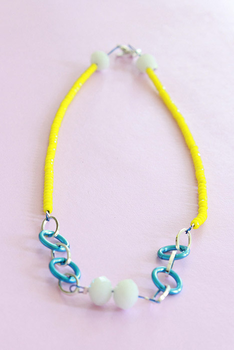 little rocks yellow necklace by pop-a-porter