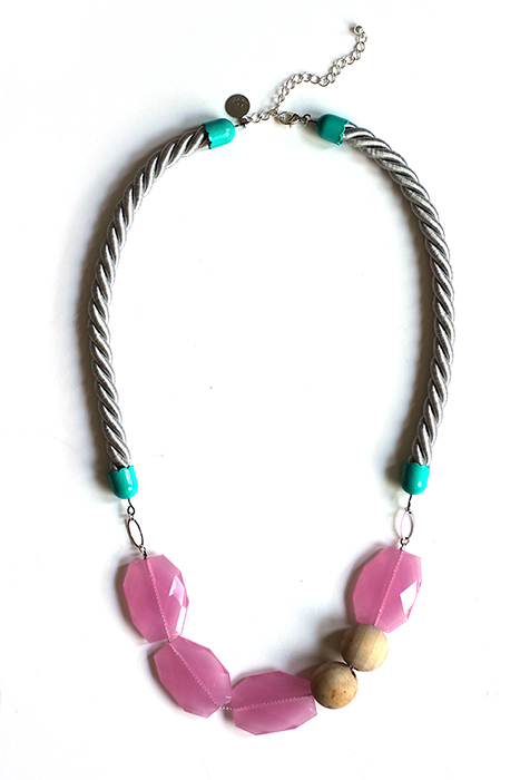 pastel candy rope necklace by pop-a-porte
