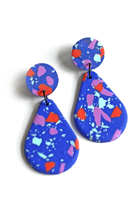 terrazzo drop earrings by pop-a-porter
