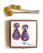 terrazzo_drop_earrings purple_on_box