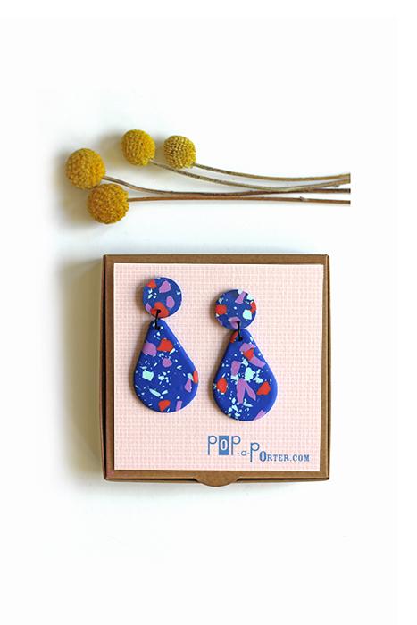 terrazzo drop earrings by pop-a-porter