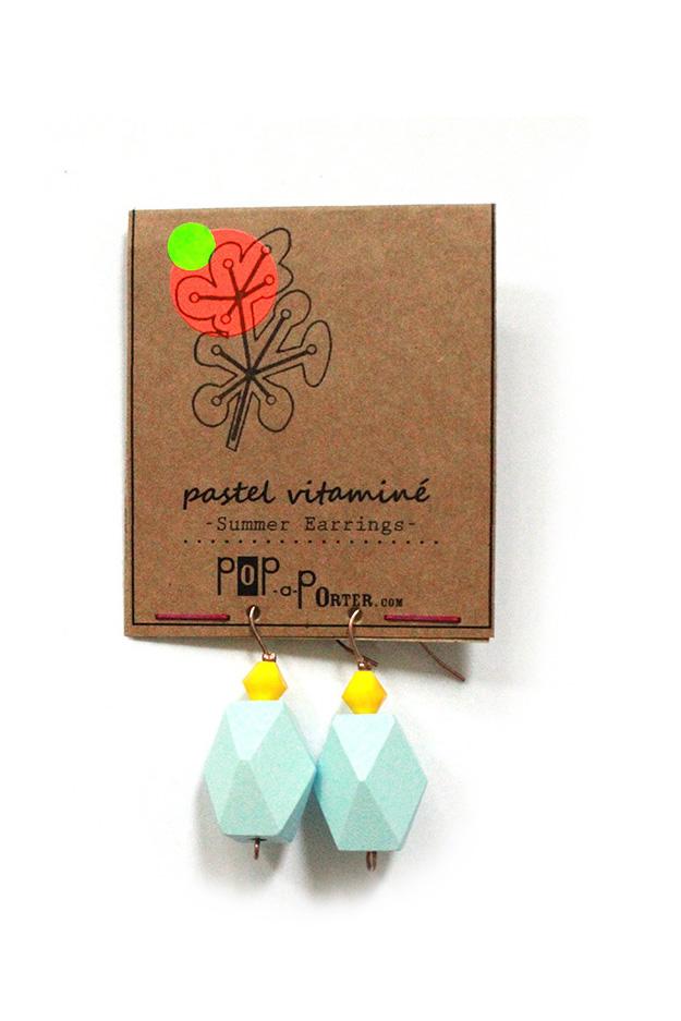 colorblock earrings pastel blue