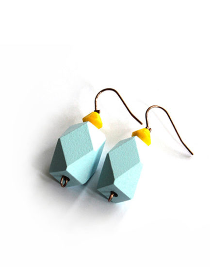 colorblock earrings pastel blue