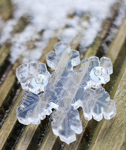 SnowKristal brooch by Pop-a-porter