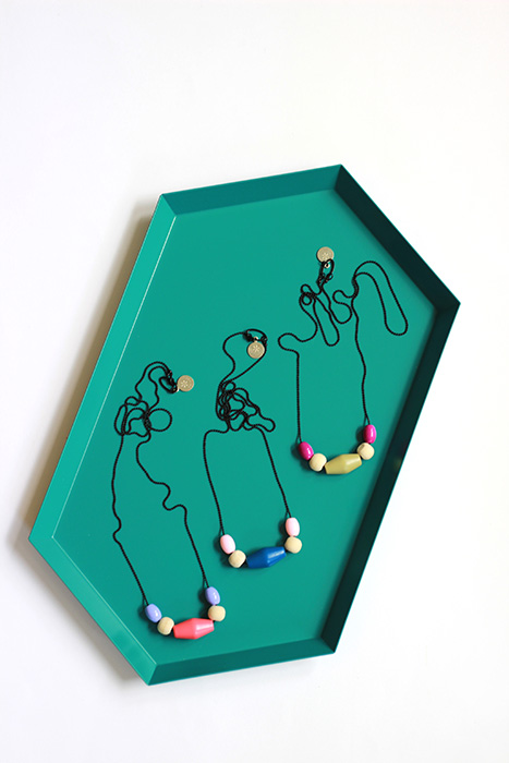 collection of the pastel necklaces by pop-a-porter