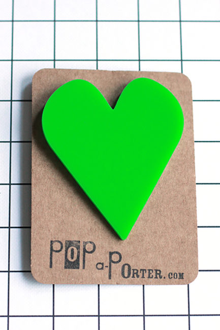 statement oversize heart brooch by pop-a-porter