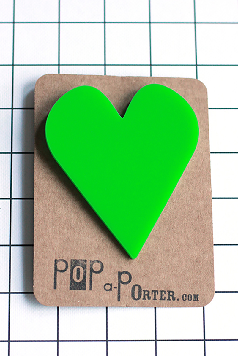 statement oversize heart brooch by pop-a-porter