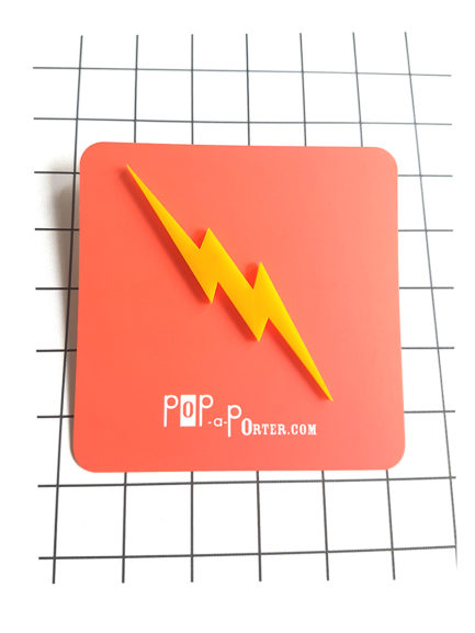 Plexiglas thunder brooch by pop-a-porter