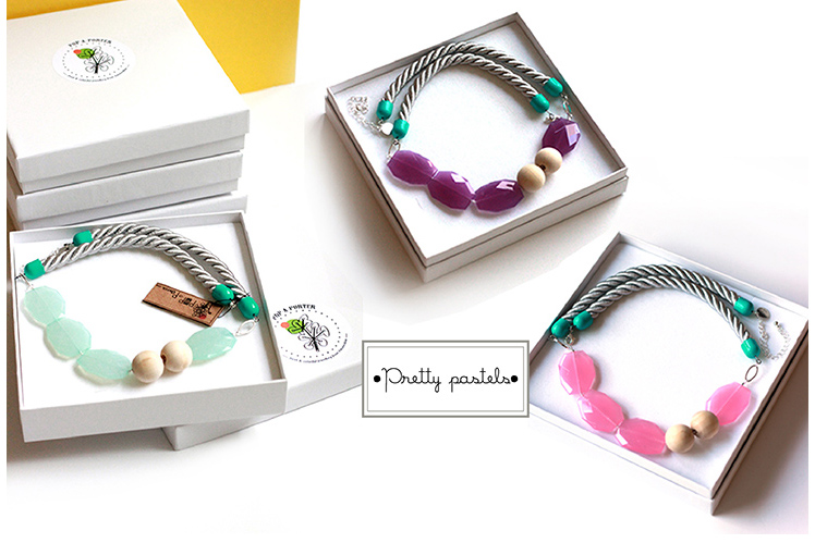 pastel rope necklaces collection by Pop-a-porter