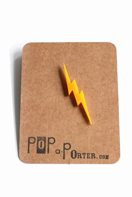 Thunder plexiglas brooch to rock your day // superhero brooch !