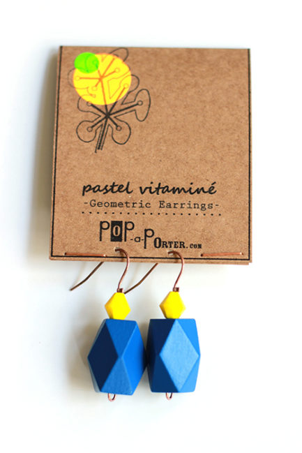gentian blue geometric earrings