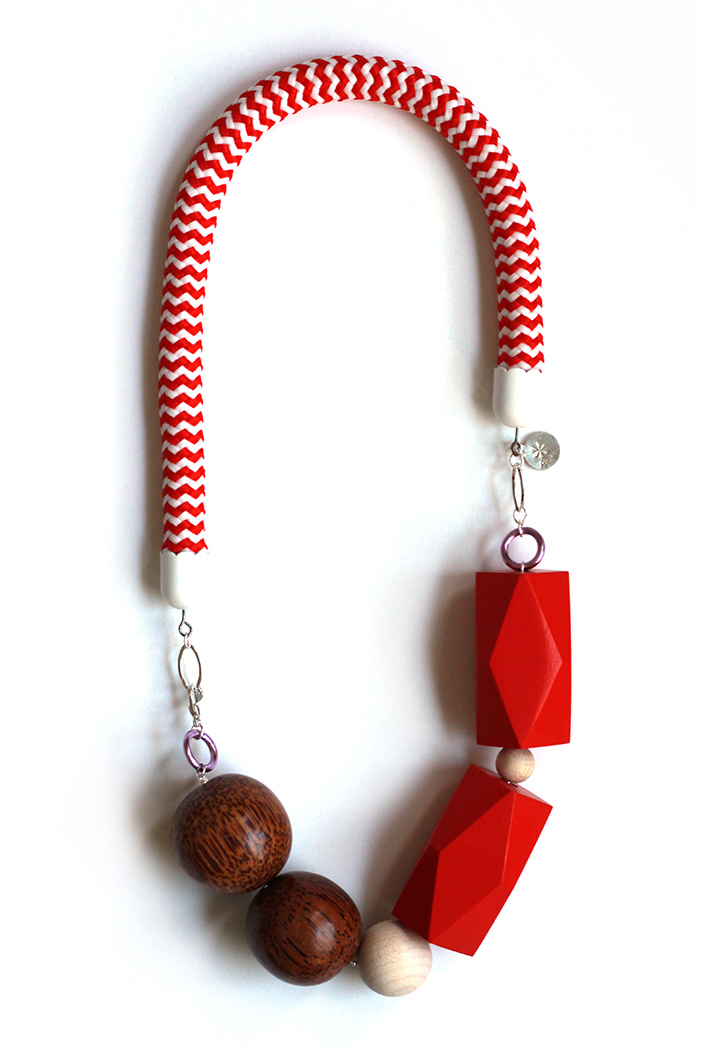 Timeless red rope necklace by Pop-a-porter
