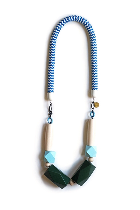 blue rope necklace by pop-a-porter