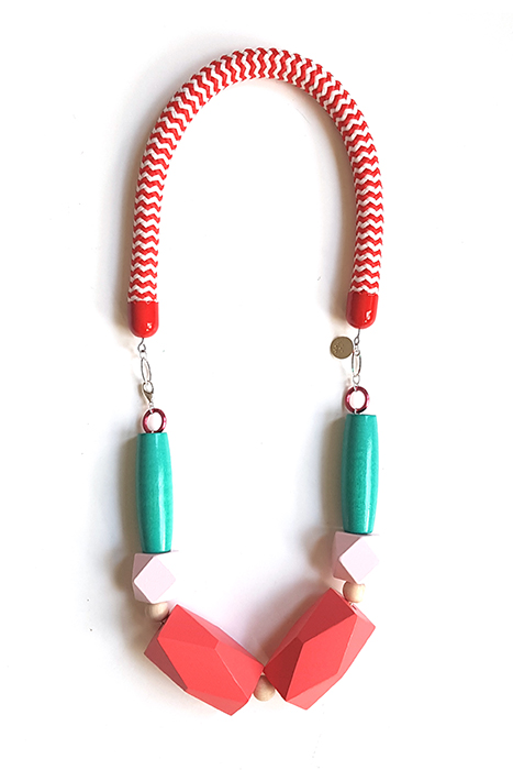red rope necklace by pop-a-porter