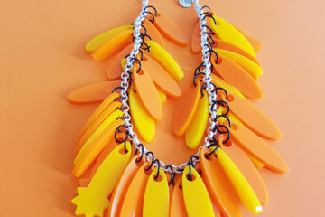 tangerine statement necklace