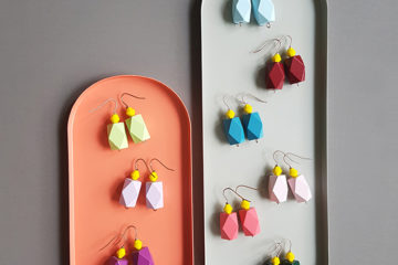 colorblock lover alert! //modern colorful earrings by Pop-a-porter