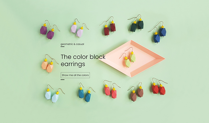 the color block earrings collection