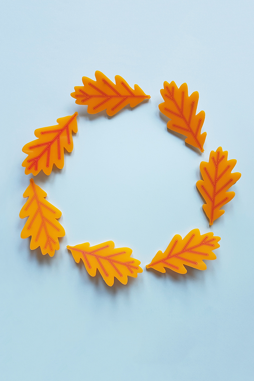 leaves brooches wreath // fall jewelry leaves jewelry brooches by Pop-a-porter