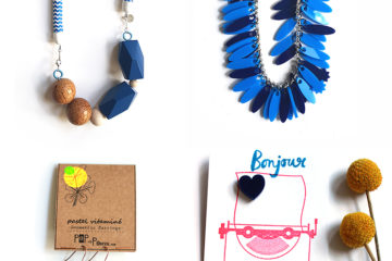 Blue jewelry designs to fight the winter blues // Wear color feel happy!