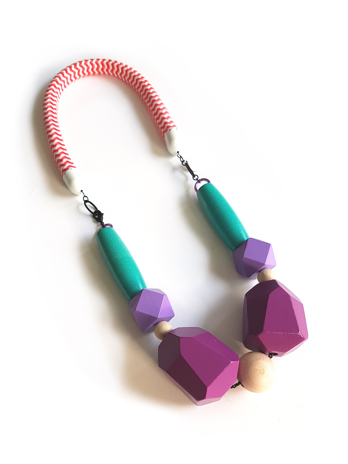 color bloking necklace for the bold wearer